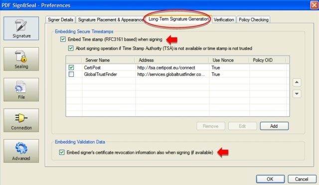 Configuring PAdES Part 2 Signatures in PDF Sign&Seal
