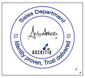 sample digital signature appearance