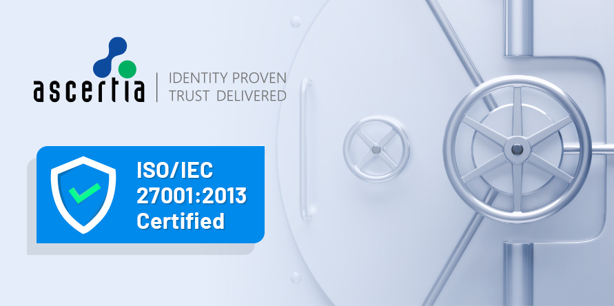 Ascertia awarded ISO 27001:2013 certification